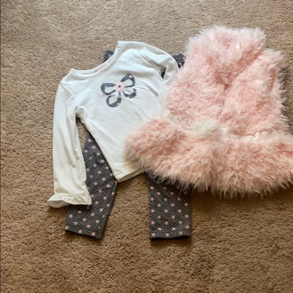 Fur vest set matching leggings